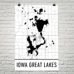 Iowa Great Lakes IA Art and Maps