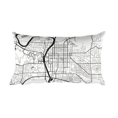 Iowa Map Pillow – Modern Map Art