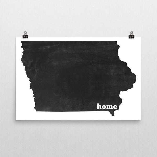 Iowa Home State Map Art