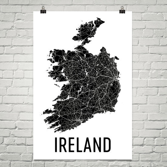 Ireland Wall Map Print - Modern Map Art