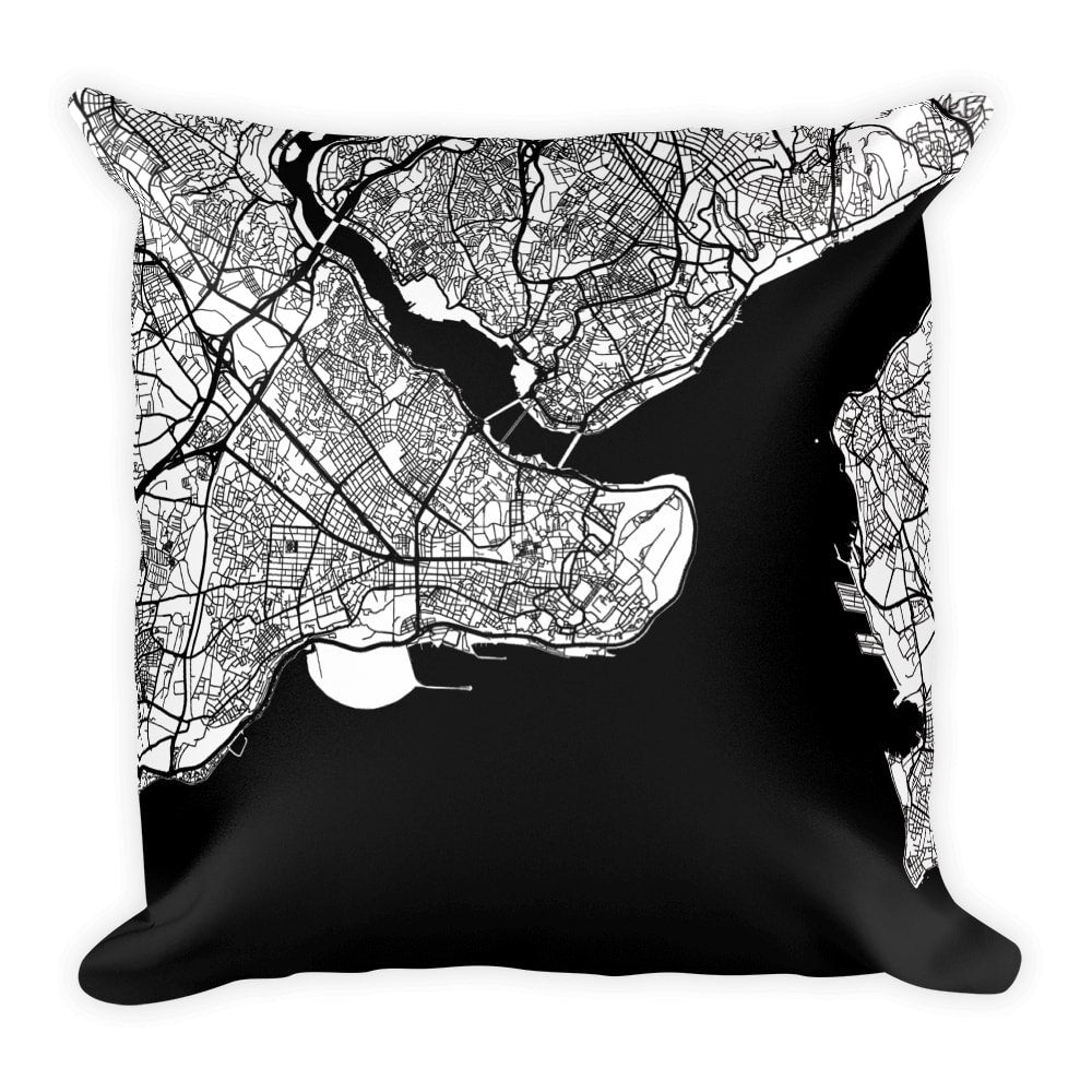 Istanbul Map Pillow – Modern Map Art