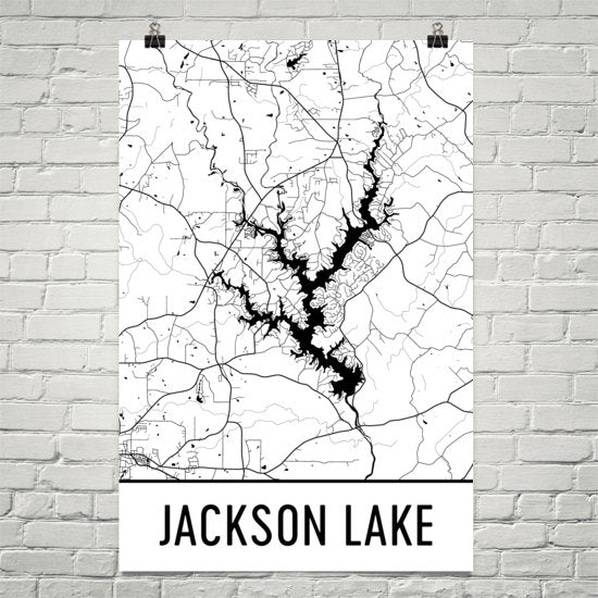 Show A Map Of Georgia.Jackson Lake Ga Art And Maps