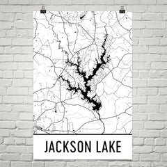 Jackson Lake GA Art and Maps