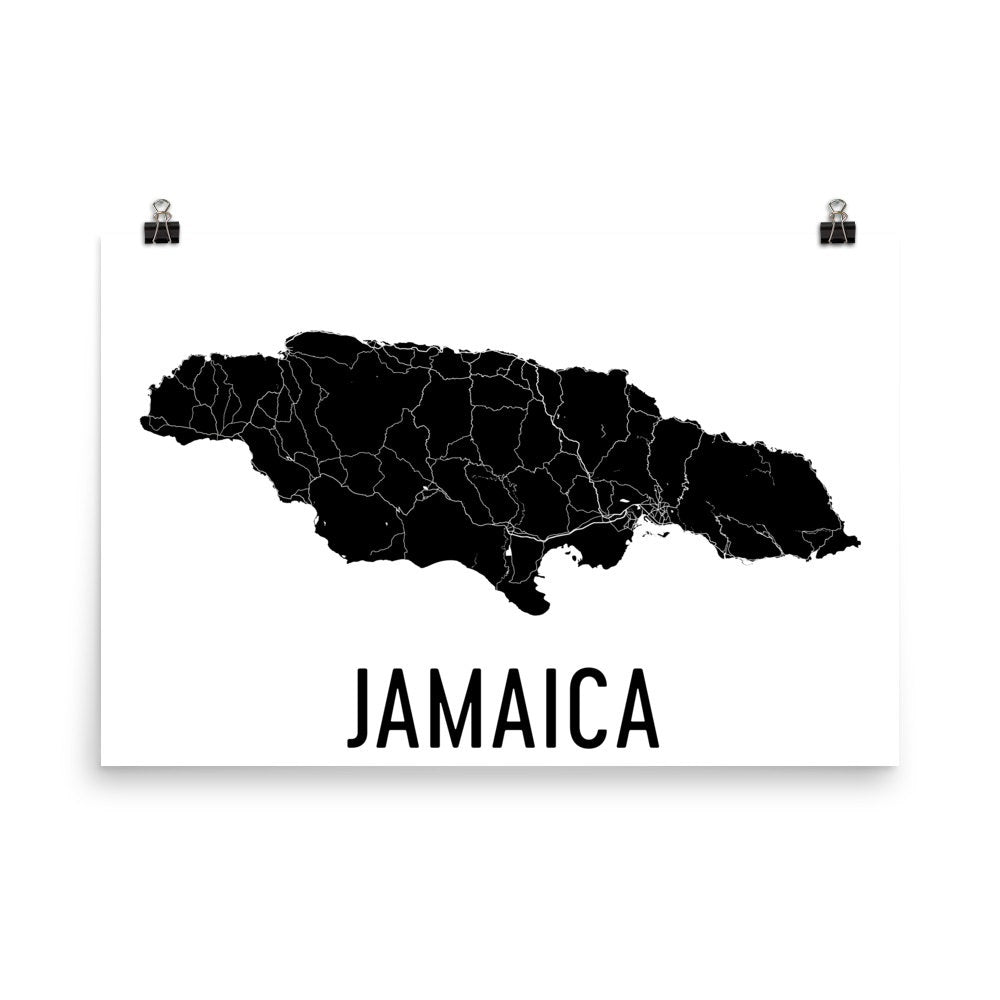 Jamaica Wall Map Print - Modern Map Art