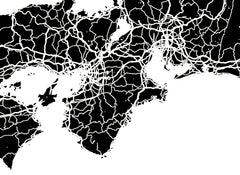 Japan Wall Map Print - Modern Map Art