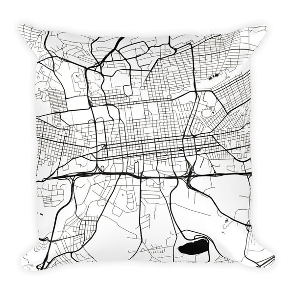Johannesburg Map Pillow – Modern Map Art