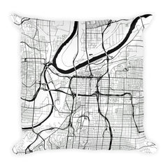 Kansas City Map Pillow – Modern Map Art
