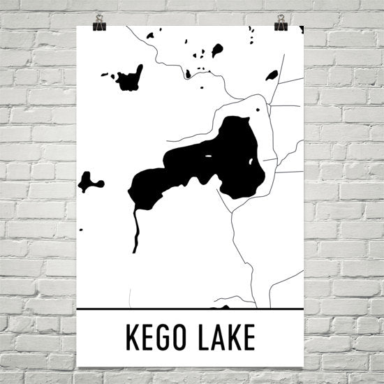 Kego Lake MN Art and Maps