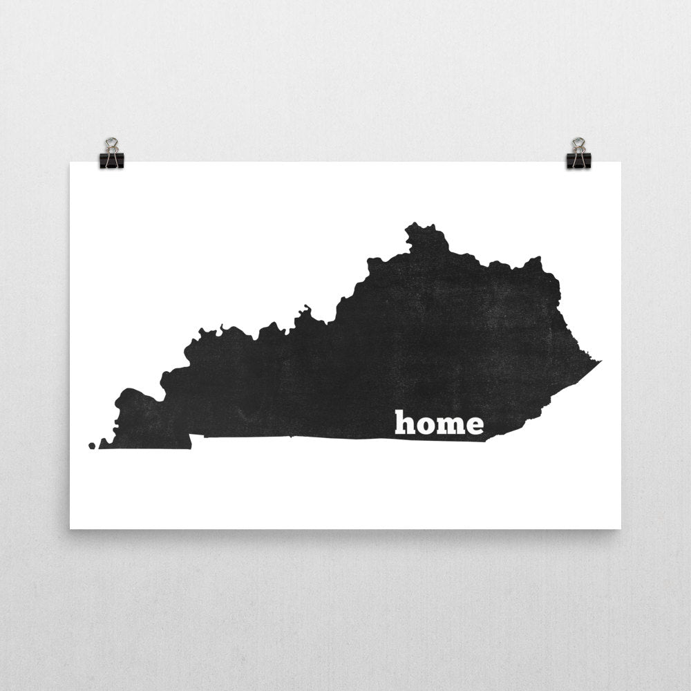 Kentucky Home State Map Art