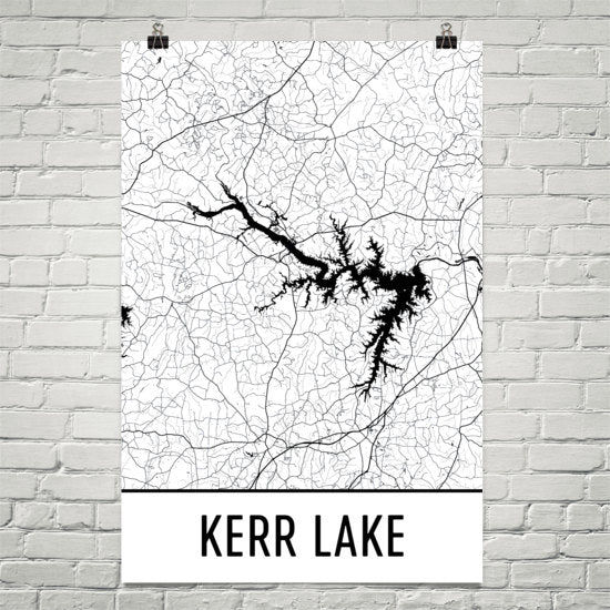 Kerr Lake NC Art and Maps