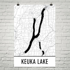 Keuka Lake NY Art and Maps