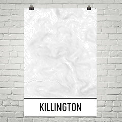 Killington Topographic Map Art