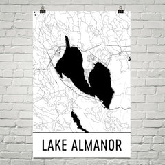 Lake Alamanor CA Art and Maps