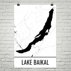 Lake Baikal Russia Art and Maps