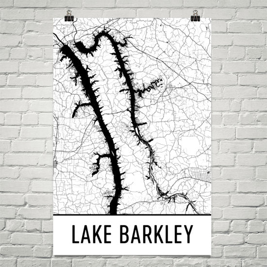 Lake Barkley KY Art and Maps