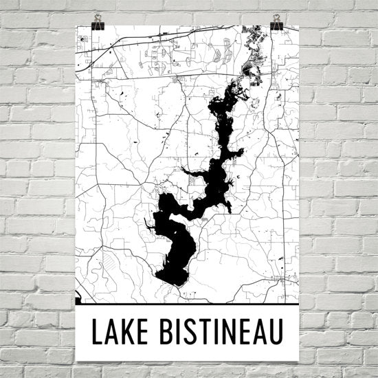 Lake Bistineau LA Art and Maps