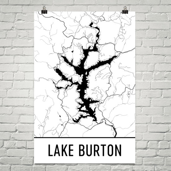 Lake Burton GA Art and Maps
