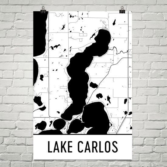 Lake Carlos MN Art and Maps
