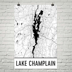 Lake Champlain VT Art and Maps