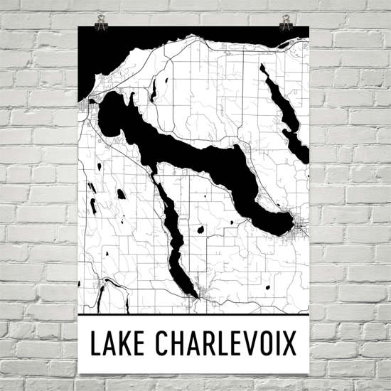 Lake Charlevoix MI Art and Maps