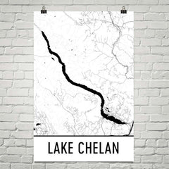 Lake Chelan WA Art and Maps