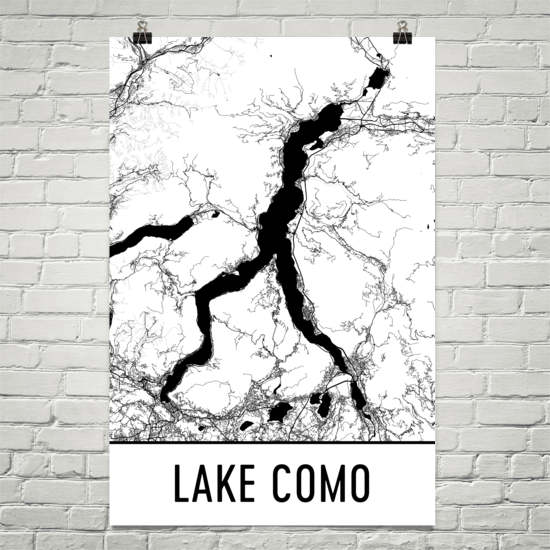Lake Como Italy Art and Maps