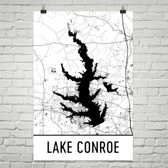 Lake Conroe TX Art and Maps