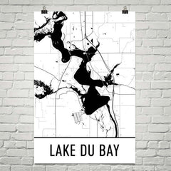 Lake Du Bay WI Art and Maps