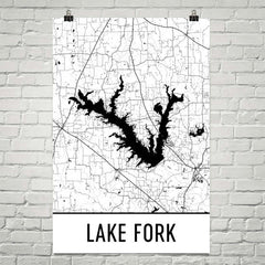 Lake Fork TX Art and Maps