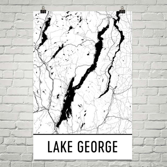 Lake George NY Art and Maps