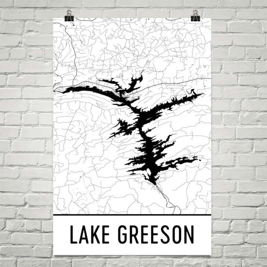 Lake Greeson AR Art and Maps