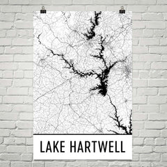 Lake Hartwell GA Art and Maps