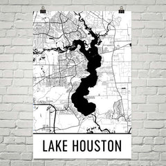 Lake Houston TX Art and Maps