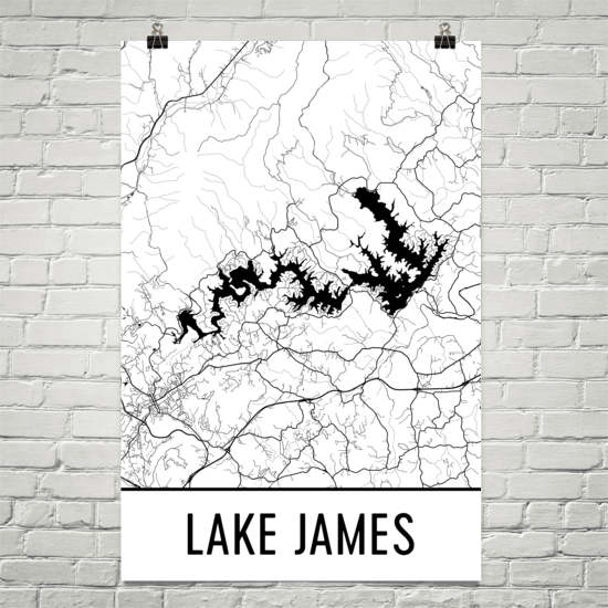 Lake James NC Art and Maps