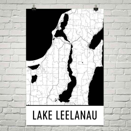 Lake Leelanau MI Art and Maps