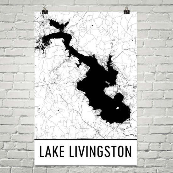 Lake Livingston TX Art and Maps