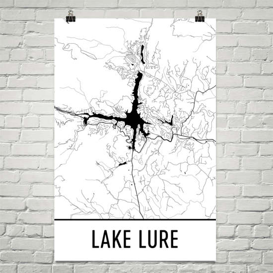 Lake Lure NC Art and Maps