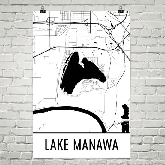Lake Manawa IA Art and Maps