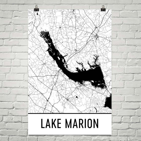 Lake Marion SC Art and Maps