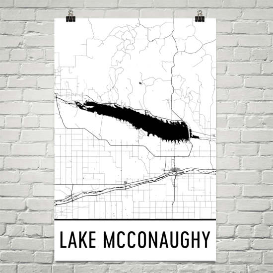 Lake McConaughy NE Art and Maps