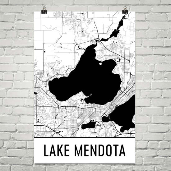 Lake Mendota WI Art and Maps