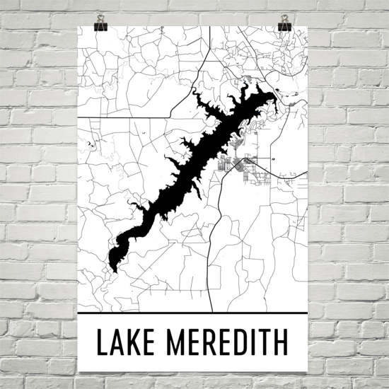 Lake Meredith TX Art and Maps