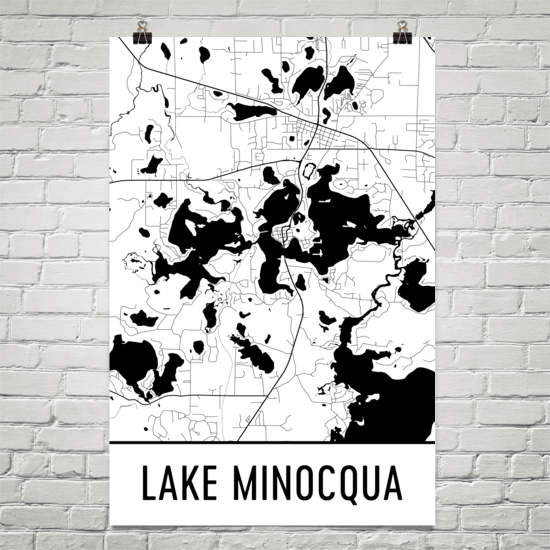 Lake Minoqua WI Art and Maps