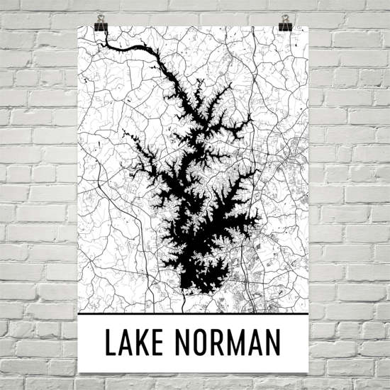 Lake Norman NC Art and Maps