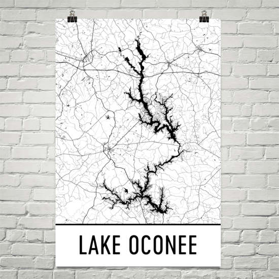 Lake Oconee GA Art and Maps
