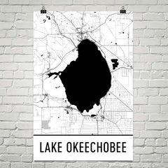 Lake Okeechobee FL Art and Maps
