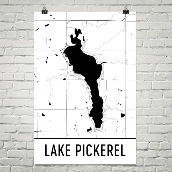 Lake Pickerel SD Art and Maps