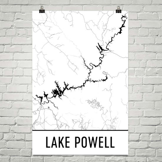 Lake Powell AZ Art and Maps