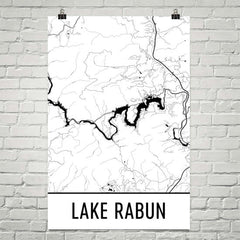 Lake Rabun GA Art and Maps