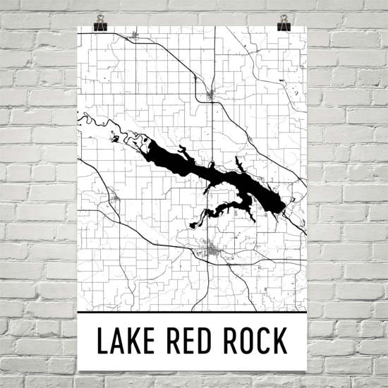 Lake Red Rock IA Art and Maps